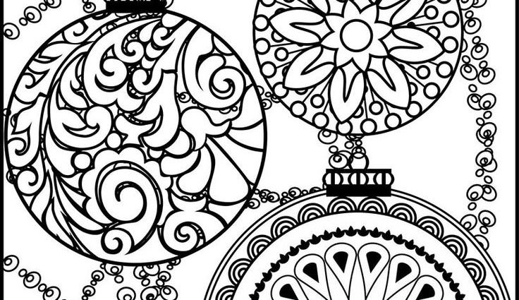 736x425 Christmas Ornaments Gel Pen Coloring Pages Best Coloring Pages