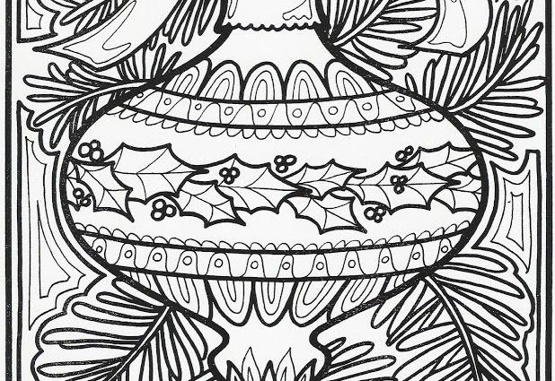 618x425 Christmas Ornaments Gel Pen Coloring Pages Best Coloring Book