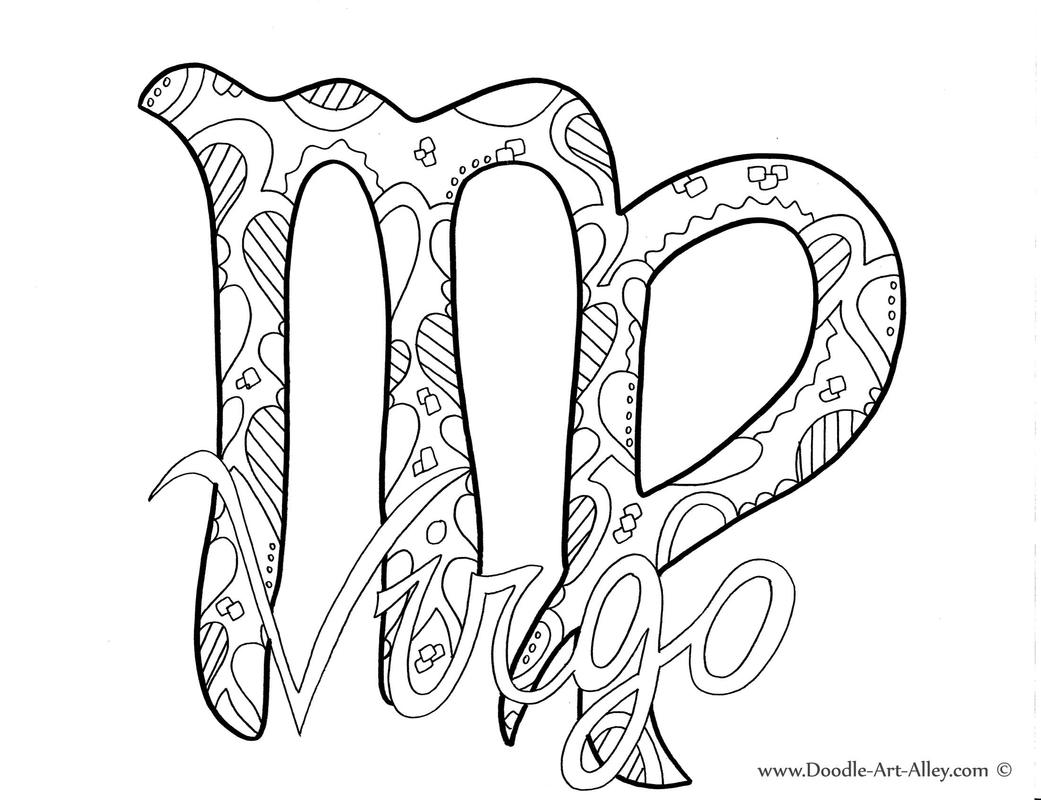 1041x800 Zodiac Coloring Pages