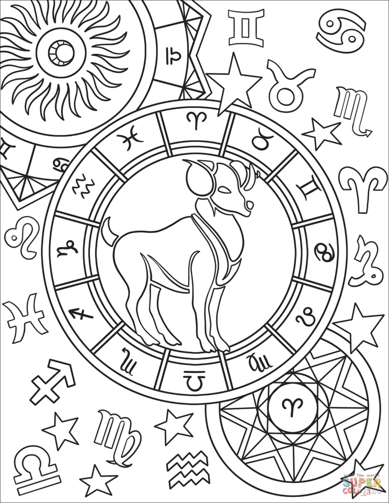 791x1024 Zodiac Signs Coloring Pages Get Bubbles