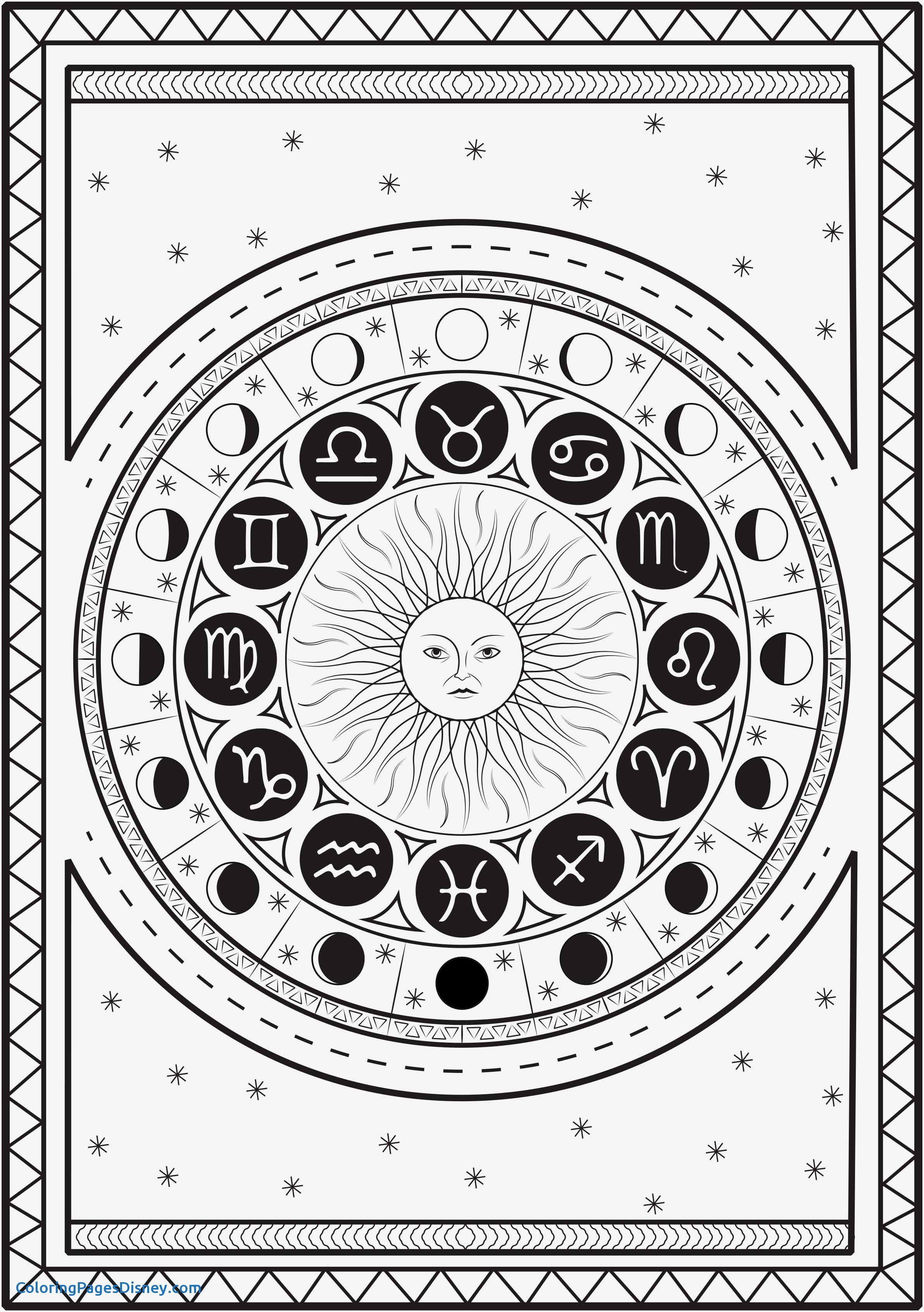 2385x3386 Coloring Pages Zodiac Signs Inspirational Gemini Zodiac Sign