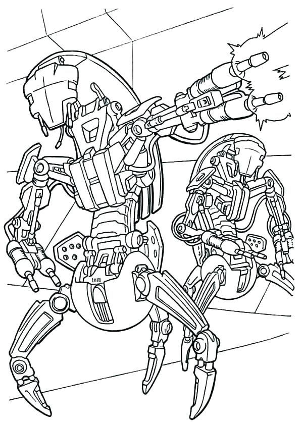 600x836 General Grievous Coloring Pages Star Wars Coloring Pages General