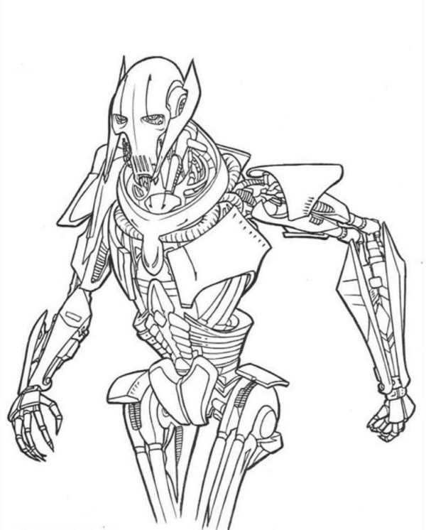 600x746 Star Wars Coloring Pages Grievous