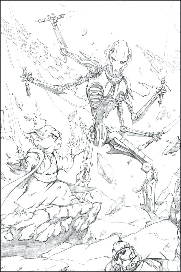 615x922 General Grievous Coloring Page Full Size Of Of General Grievous