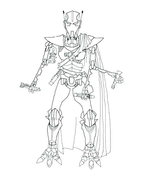532x600 General Grievous Coloring Page Spaceship On Coloring Page Do You