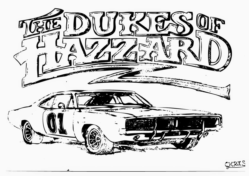 1024x724 Dukes Of Hazzard General Lee Coloring Pages