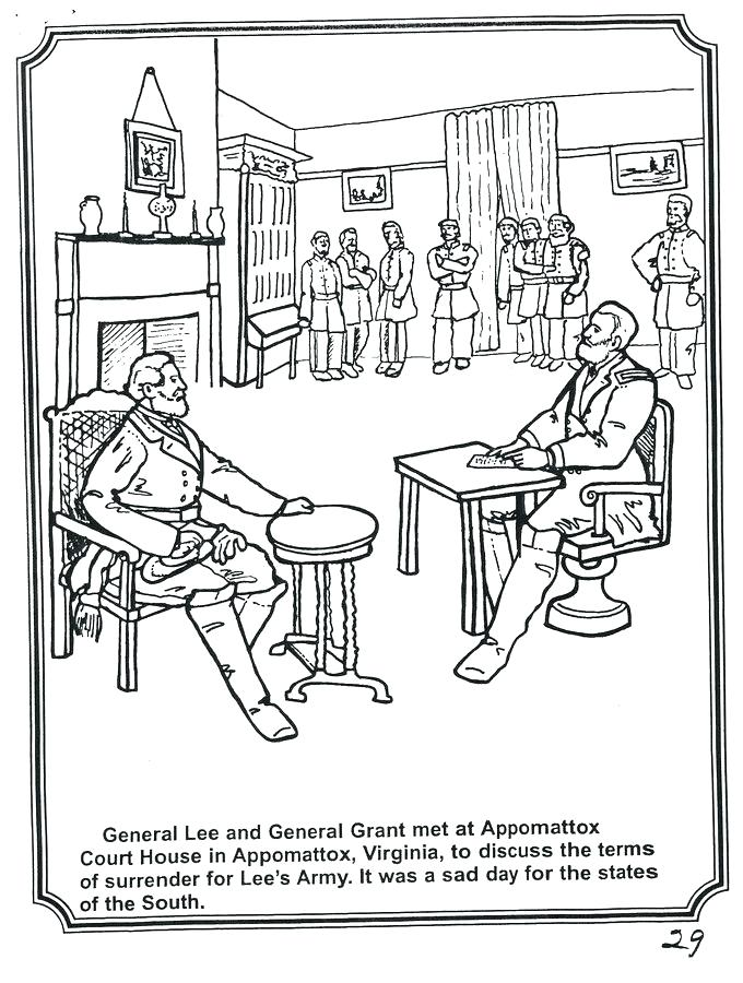 680x900 General Lee Coloring Pages General E Lee Surrenders General Lee