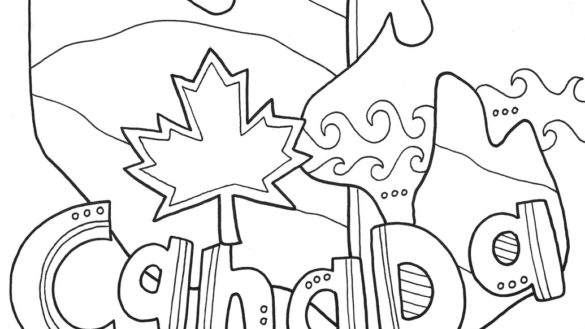 585x329 Geography Coloring Pages School Girl On Lesson Page Free Printable