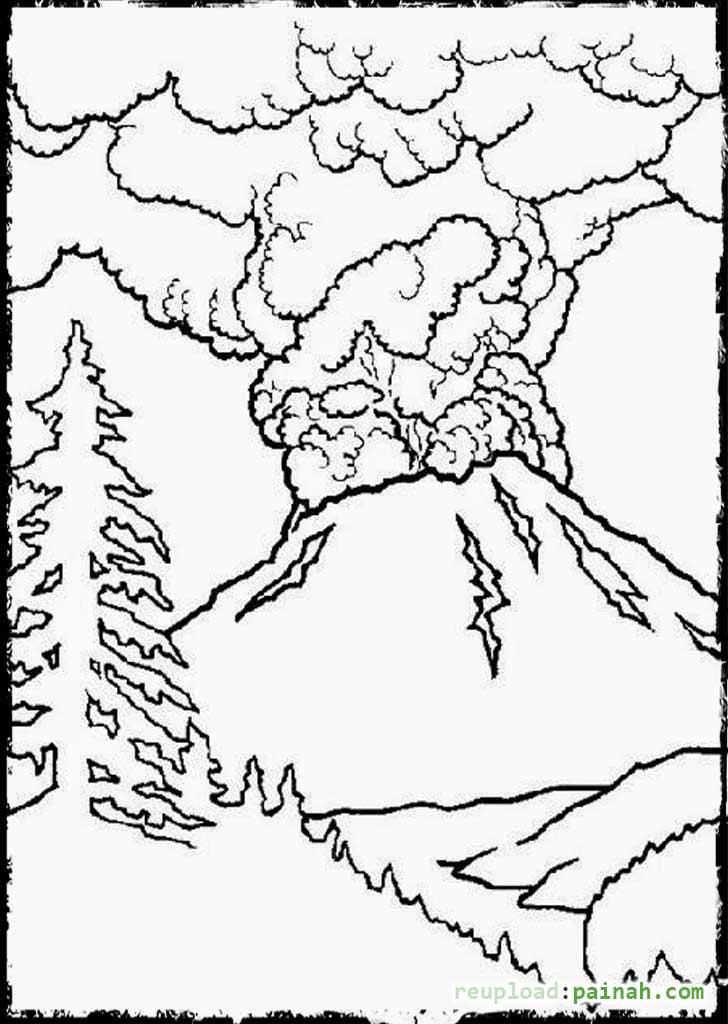 728x1024 Hawaii Volcano Coloring Page Hawaii