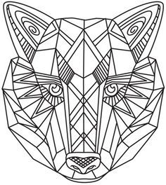 Geometric Animal Coloring Pages