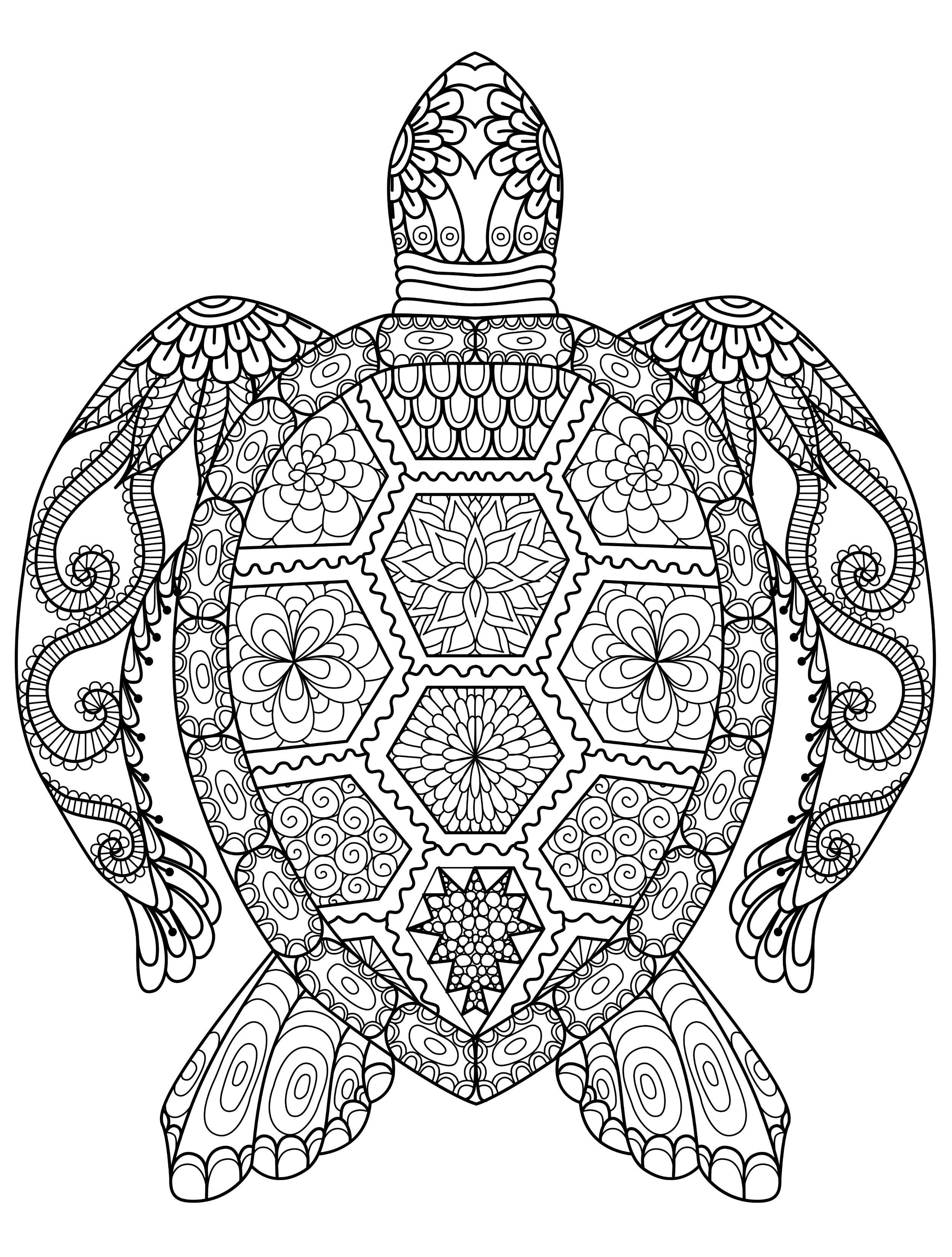 2500x3300 Geometric Animal Coloring Pages Wagashiya
