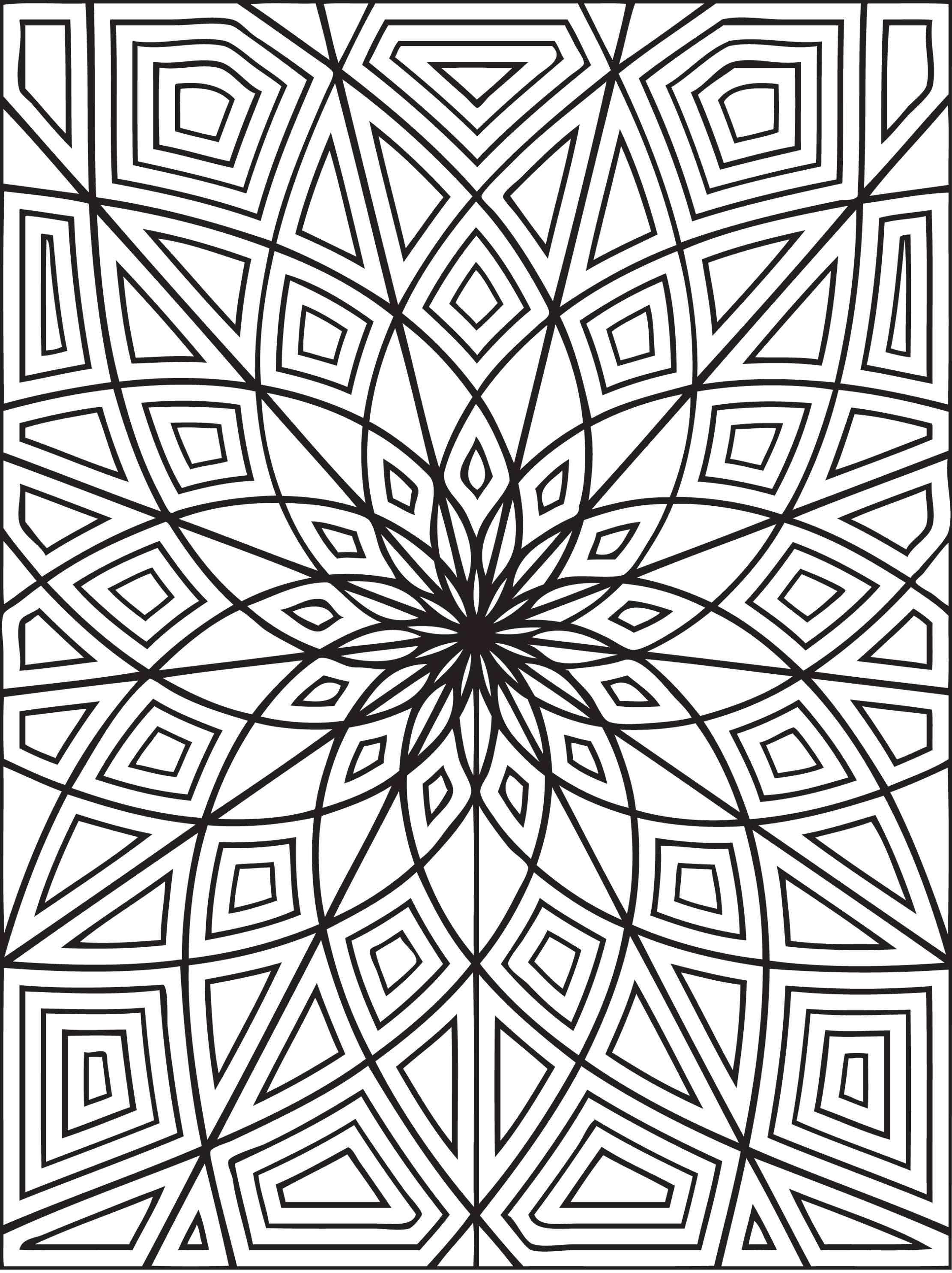 2222x2970 Geometric Animal Coloring Pages Allmadecine Weddings