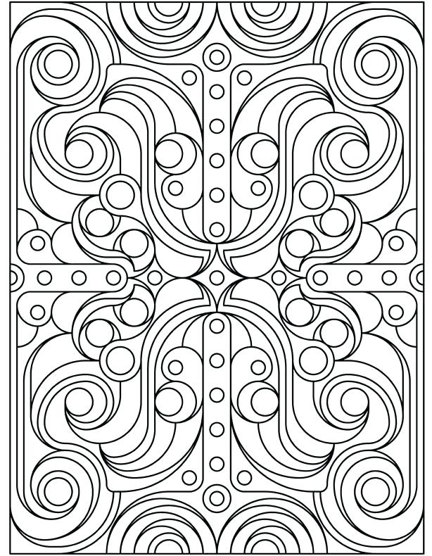 614x790 Geometric Color Pages Free Printable Geometric Coloring Pages