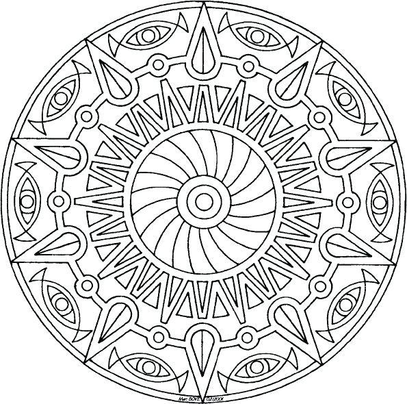 595x590 Geometric Coloring Page Geometric Coloring Page Free Printable