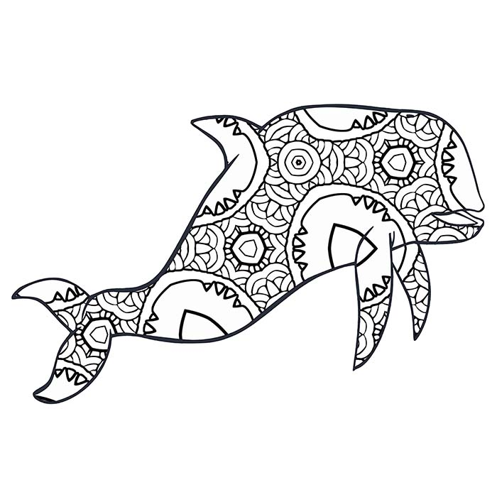 700x700 Free Coloring Pages A Geometric Animal Coloring Book Just