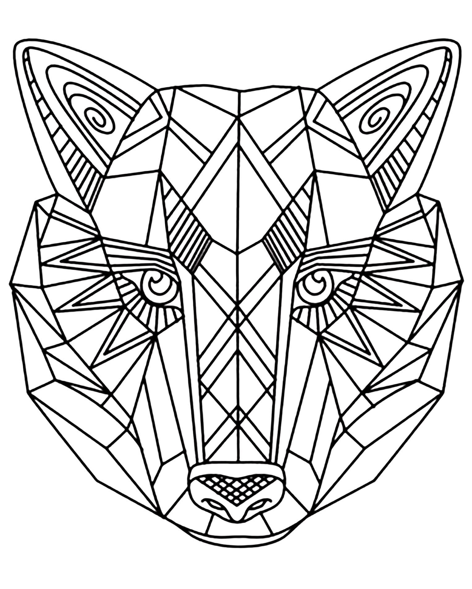 1528x1907 Incredible Wolf Coloring Pages For Adults Justcolor Image