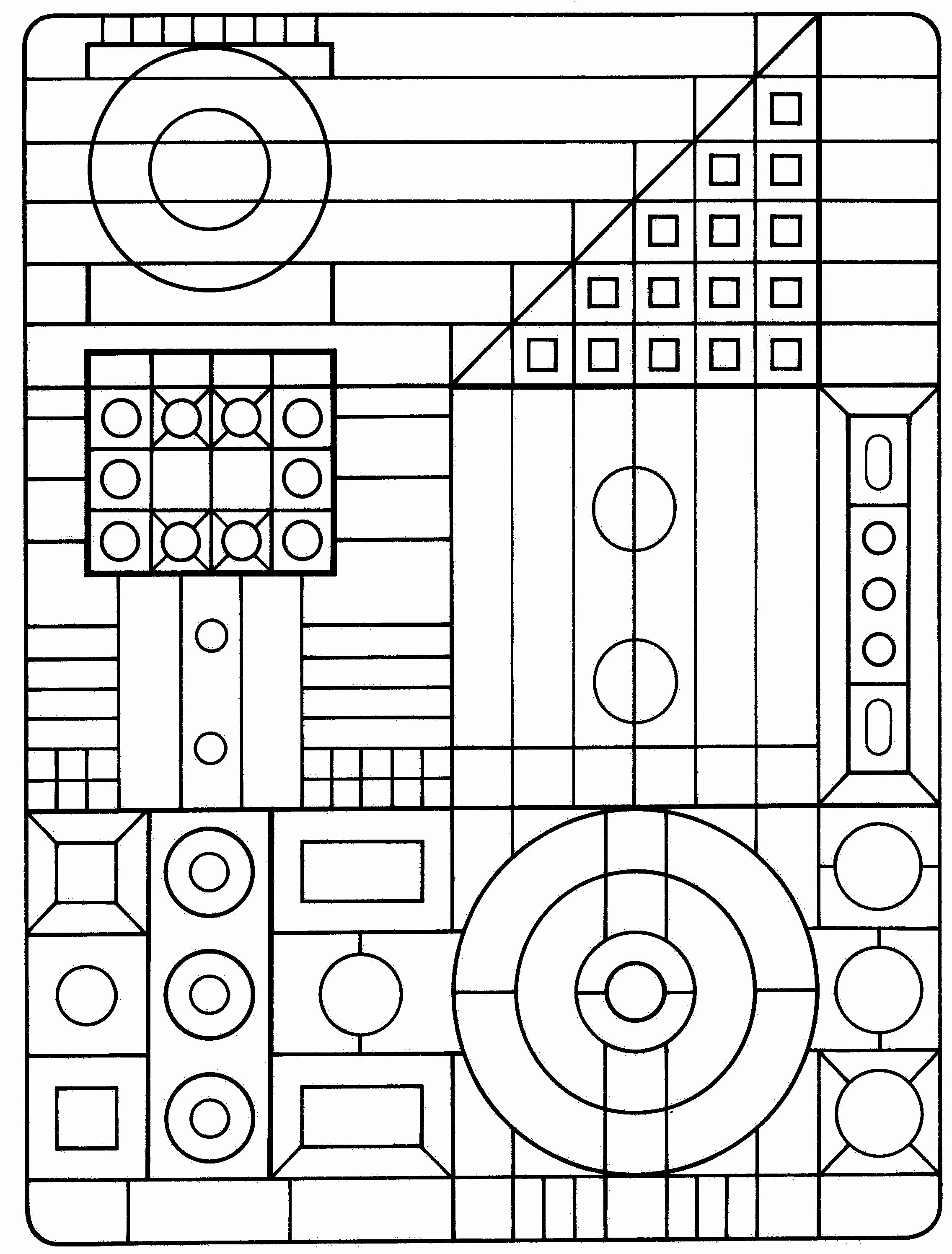 Geometric Coloring Pages At GetDrawings