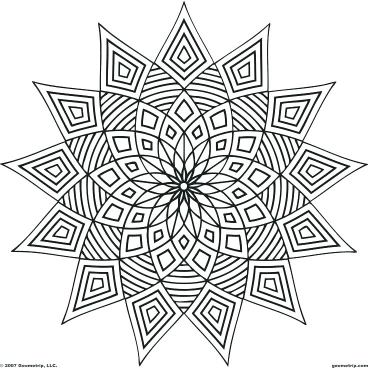 736x736 Easy Coloring Book For Adults Also Easy Geometric Coloring Pages