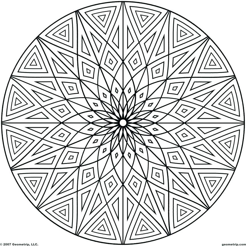 863x863 Extraordinary Geometry Coloring Pages Unique Free Geometric