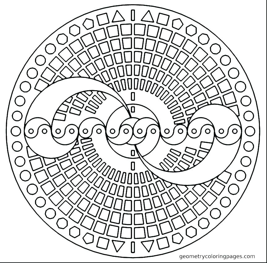 863x851 Free Geometric Coloring Pages For Adults Coloring Pages Printable