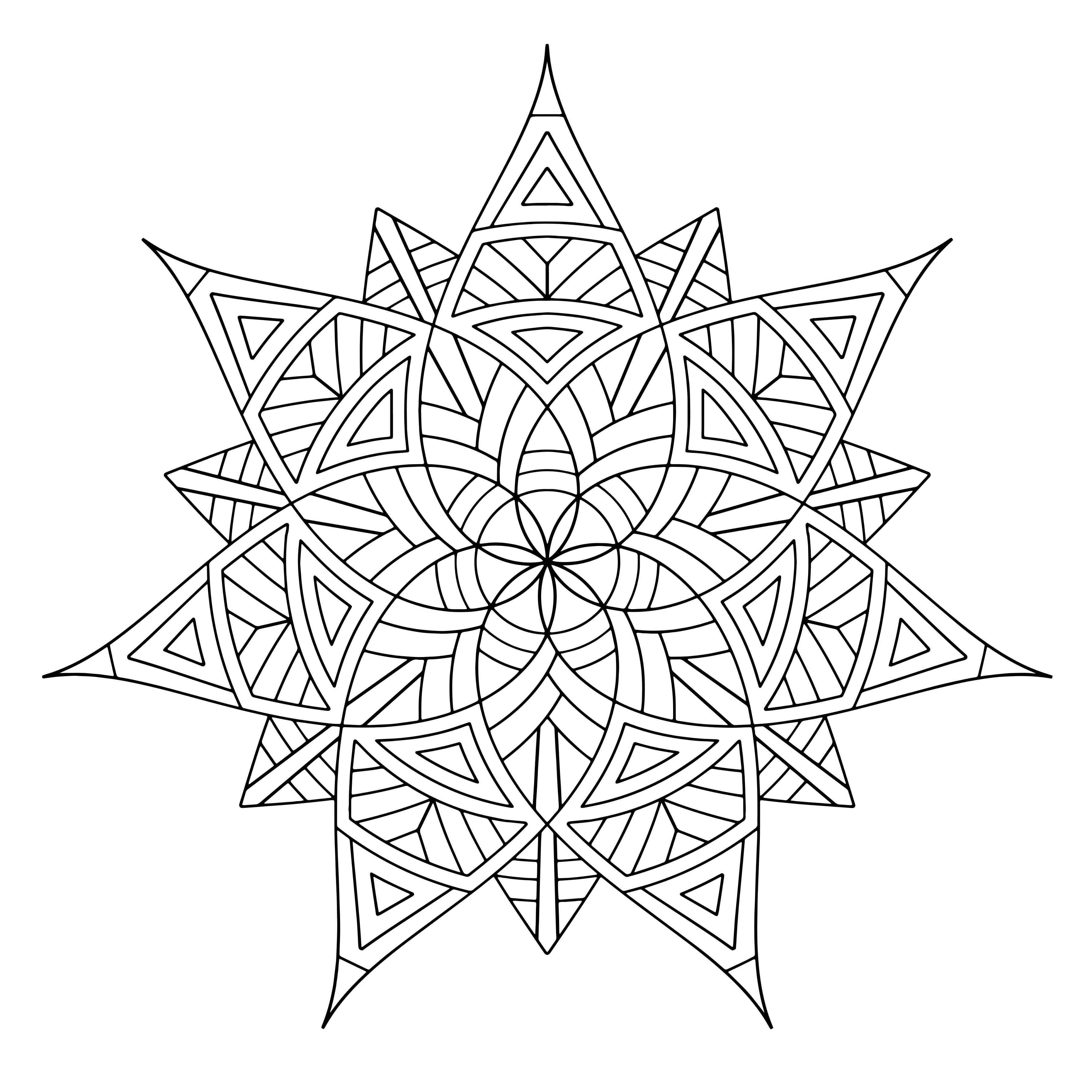 3600x3600 Free Printable Geometric Coloring Pages For Adults
