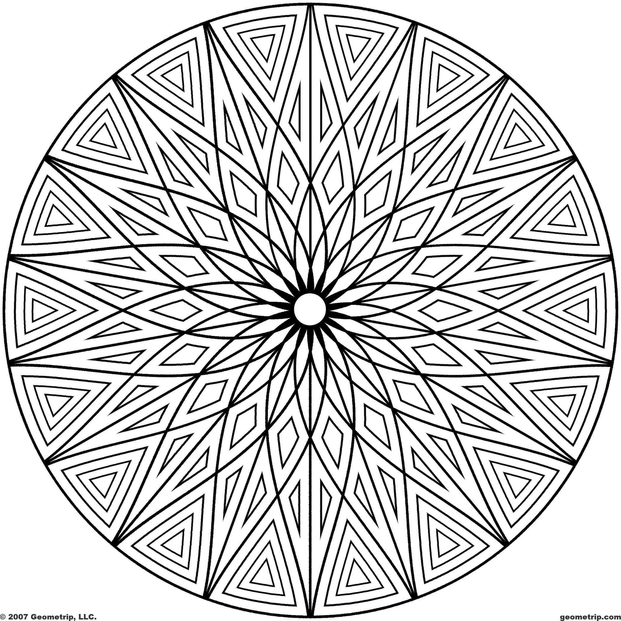 2100x2100 Adult Coloring Pages Geometric Designs