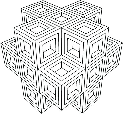 500x466 Geometric Coloring Pages Geometric Coloring Pages Geometric