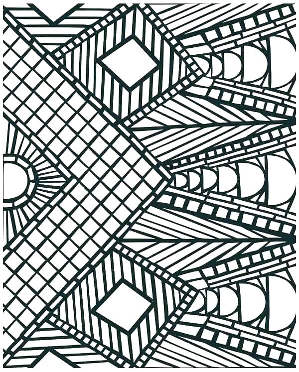600x747 Geometric Coloring Sheet Geometric Patterns Coloring Pages