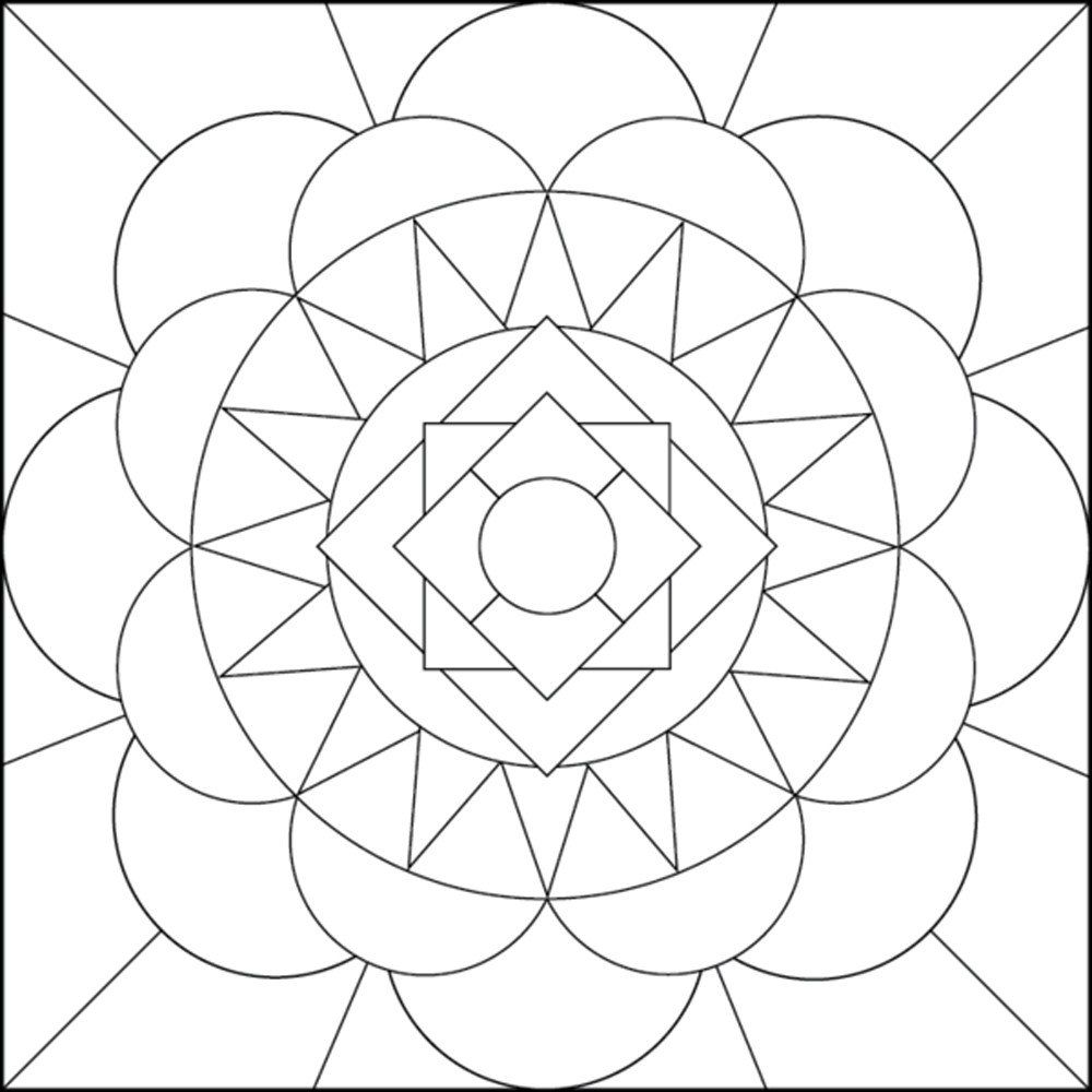 1000x1000 Incredible Geometric Coloring Pages For Adults Just Pic Of Simple