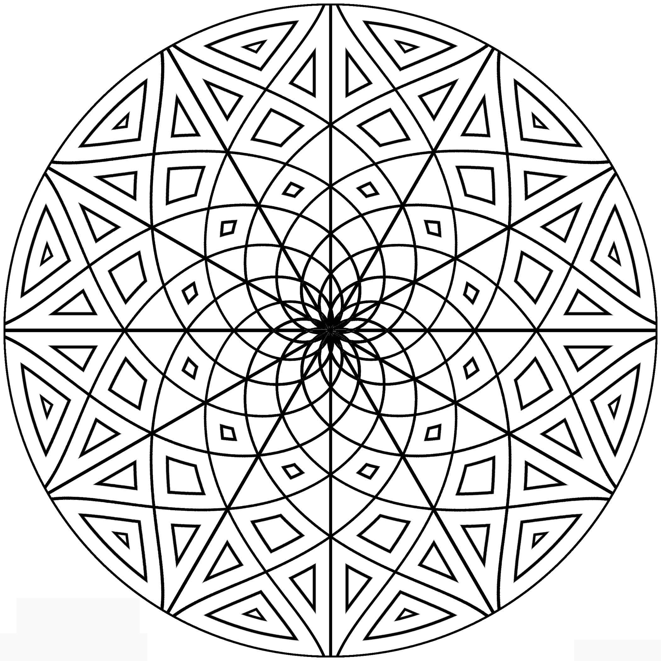 2100x2100 Astonishing Printable Geometric Coloring Pages For Kids Image