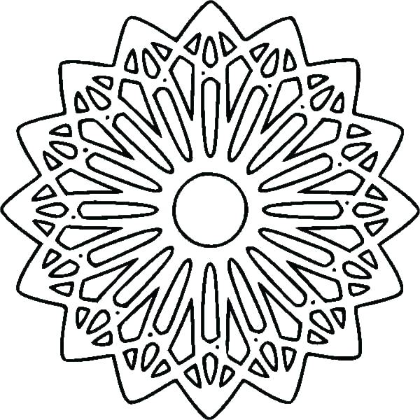 600x600 Easy Geometric Coloring Pages