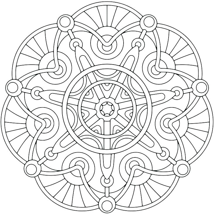 736x736 Geometric Coloring Pages For Adults