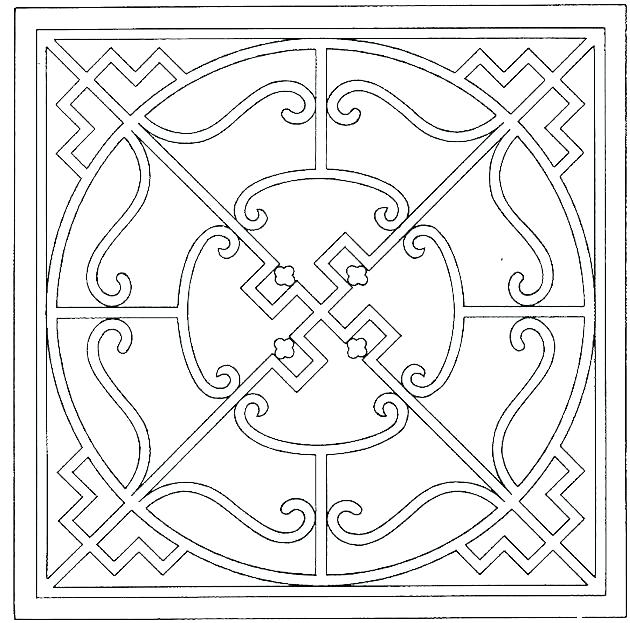 630x623 Geometric Coloring Pages For Adults