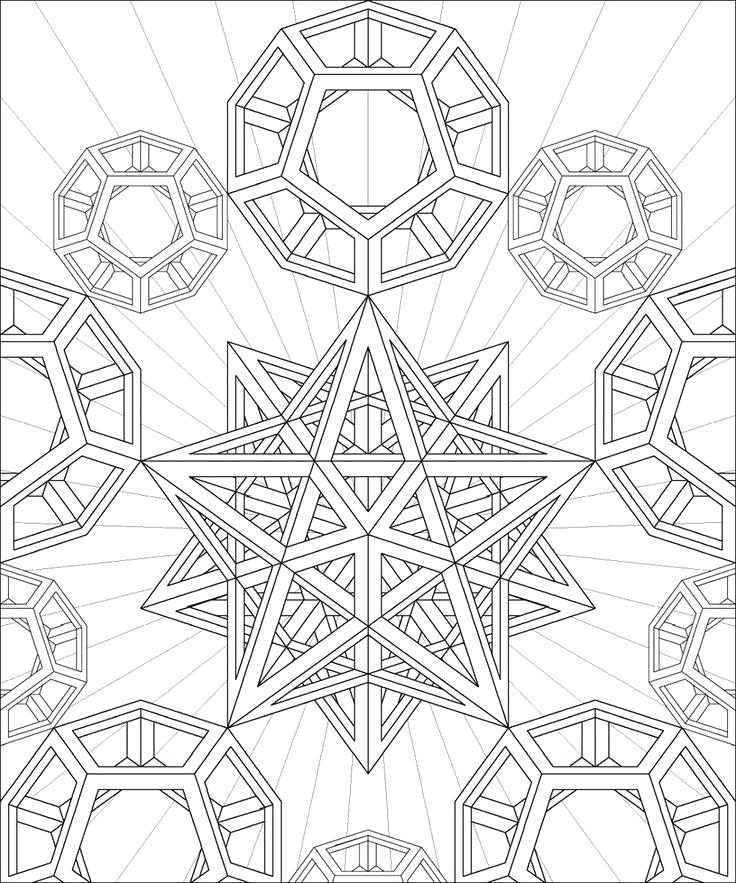 736x883 Beautiful Geometric Coloring Pages For Kids And Coloring Pages