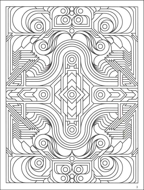 600x794 Best Cool Geometric Coloring Pages Vintage Geometric Coloring
