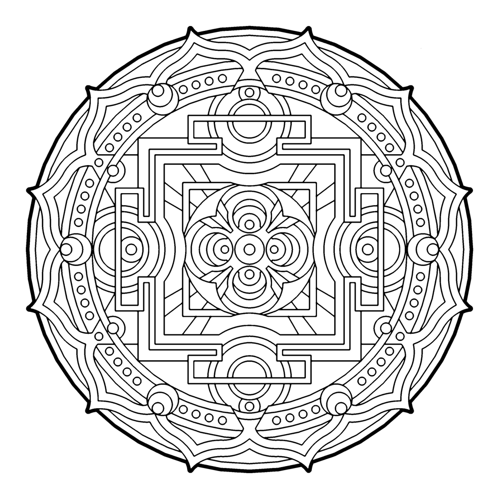 Geometric Coloring Pages For Kids At Getdrawings Com Free For