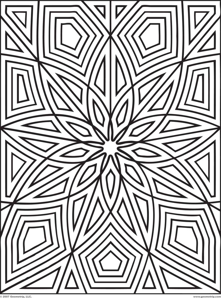 Geometric Coloring Pages For Kids at GetDrawings.com | Free ...