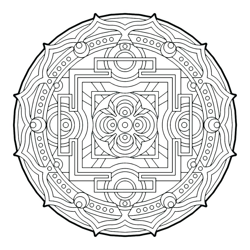Geometric Design Coloring Pages at GetDrawings.com | Free for ...