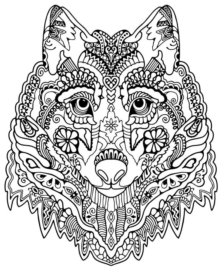 Geometric Elephant Coloring Pages