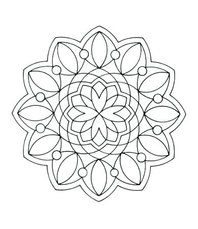390x450 Geometric Shape Coloring Pages Draw Geometric Shapes Coloring Page