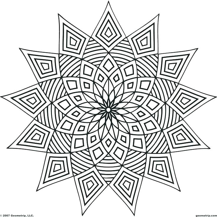 736x736 Geometric Shapes Coloring Pages Geometric Geometric Design