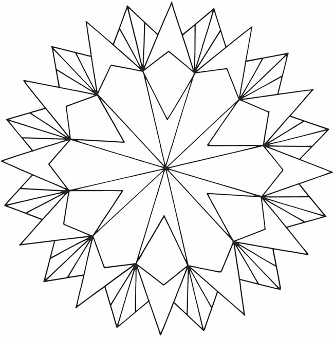 650x658 Free Printable Geometric Coloring Pages For Adults