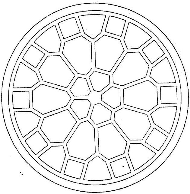 630x641 Geometric Coloring Pages