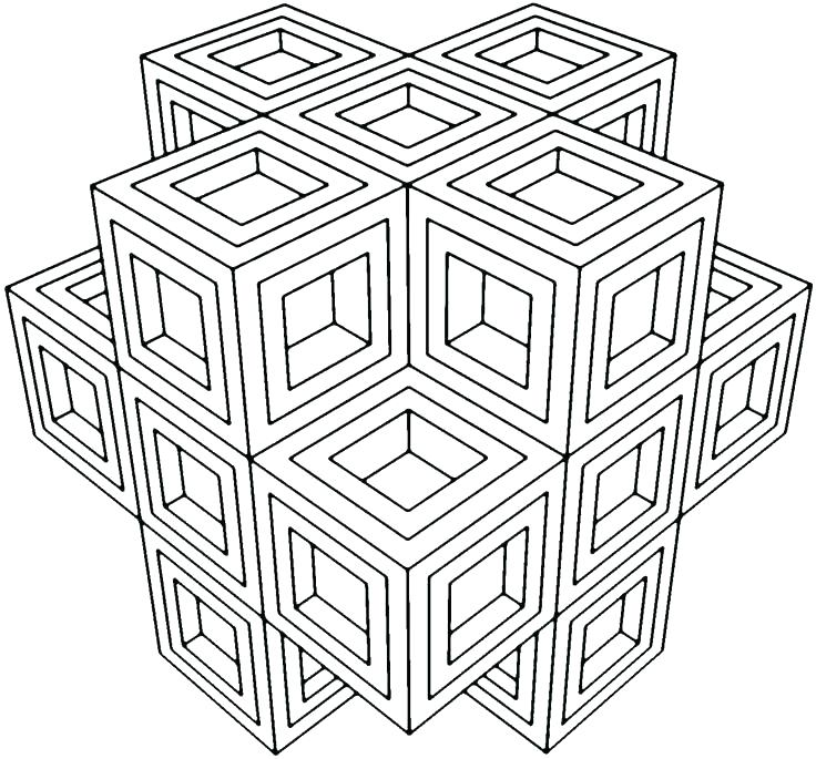 736x685 Geometric Patterns Coloring Pages Free Geometric Design Coloring