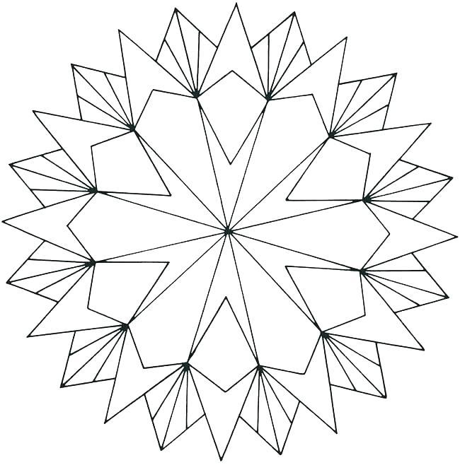650x658 Geometric Patterns Color Pages Kids Coloring Geometric Shapes