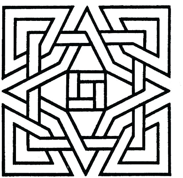 630x614 Geometric Patterns Coloring Pages For Kids Coloring Pages For Kids