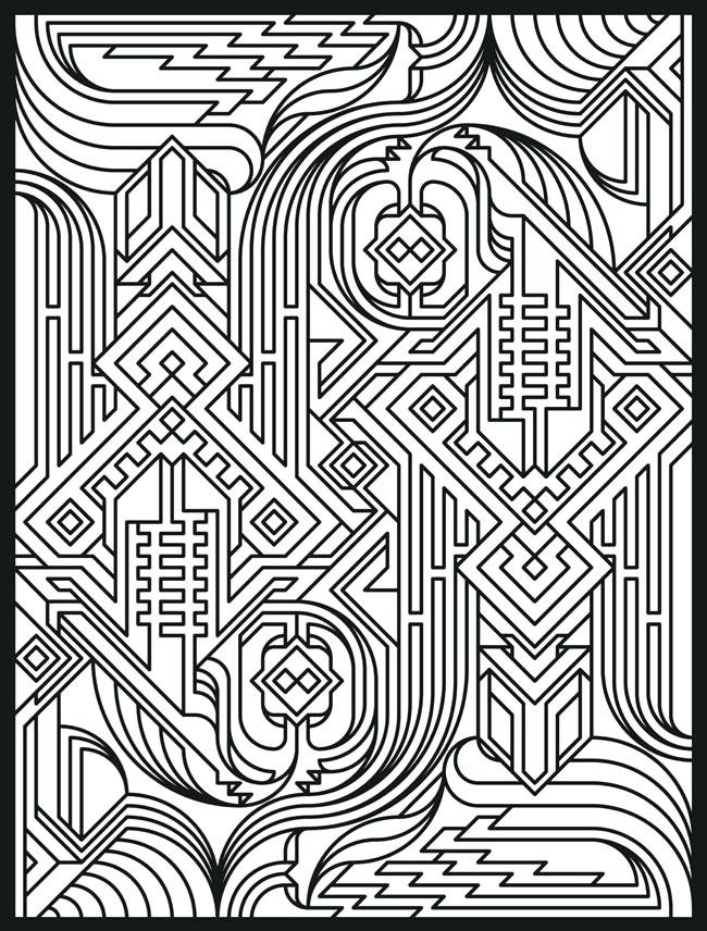 650x856 Awesome Geometric Coloring Pages For Kids Or Geometric Patterns