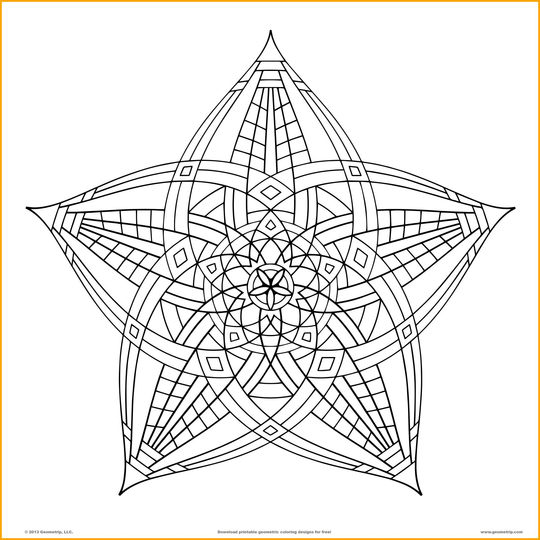 1812x1812 Stunning Geometric Design Coloring For Adults Page Kids Pic