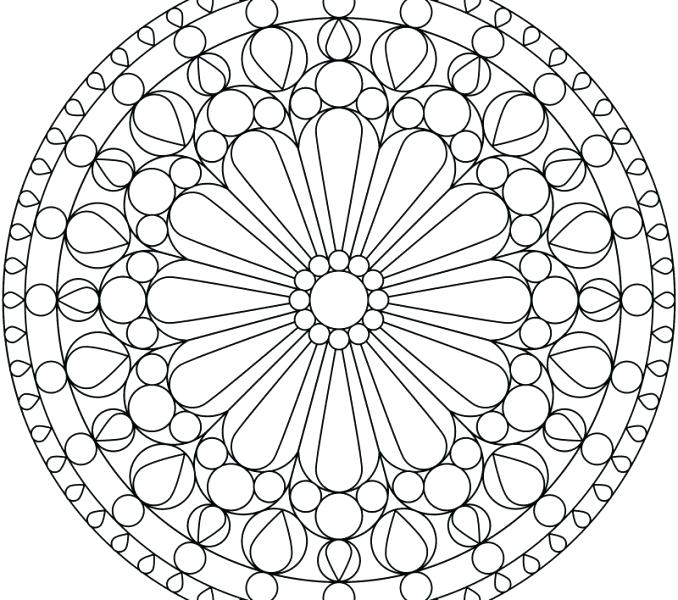 678x600 Geometric Pattern Coloring Pages