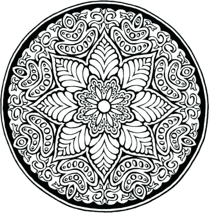 707x721 Geometric Patterns Coloring Pages